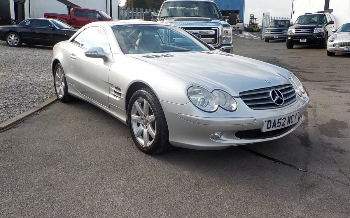 2003 MERCEDES SL500 CONVERTIBLE AUTO WITH FSH