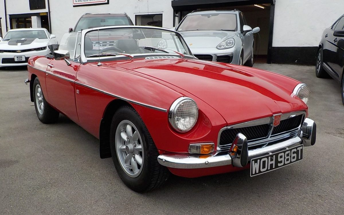 1978 MGB ROADSTER 1800 4 SPEED WITH OVERDRIVE MANUAL