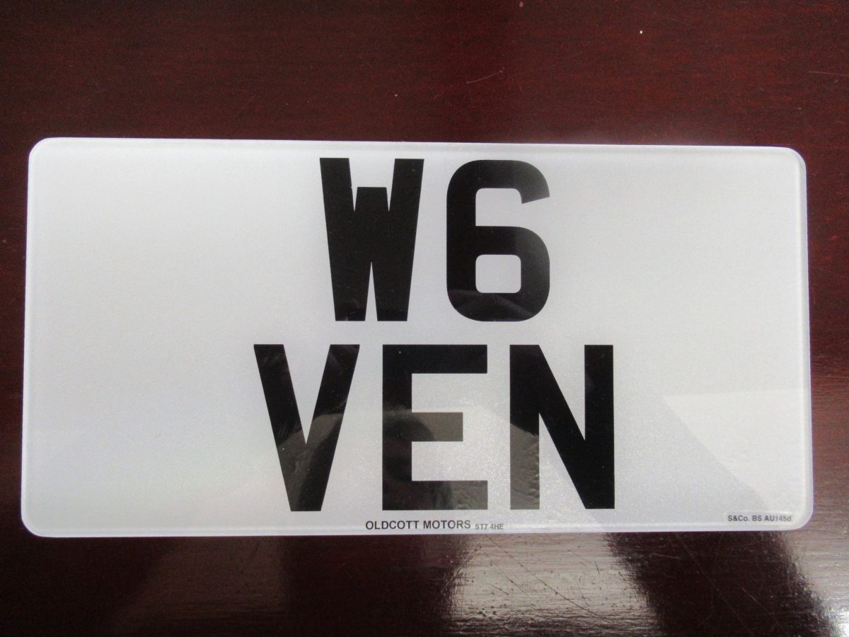 NUMBER PLATE FOR SALE W6 VEN
